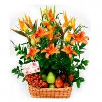 Fruit and Flowers Basket for Mom, Nicaragua